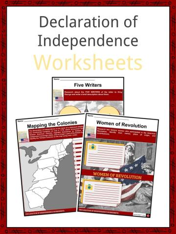 Declaration of Independence Worksheets