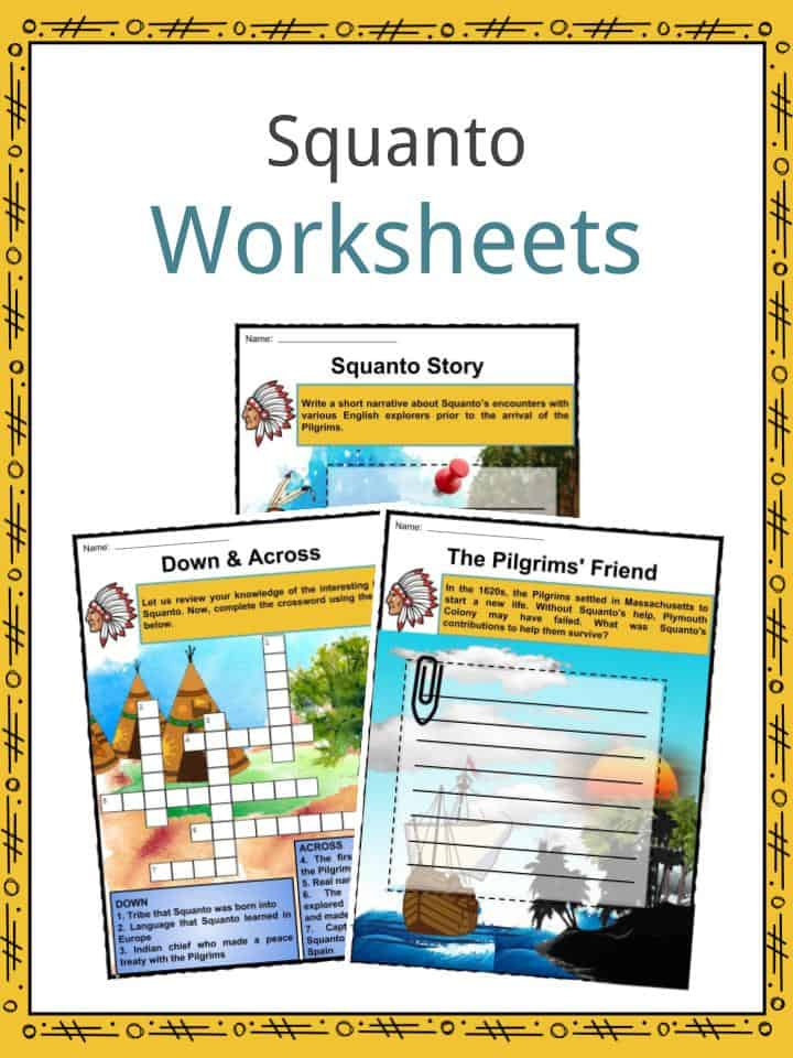 Squanto Facts Worksheets Life Amp Information For Kids