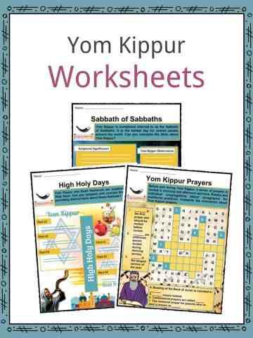 Yom Kippur Worksheets