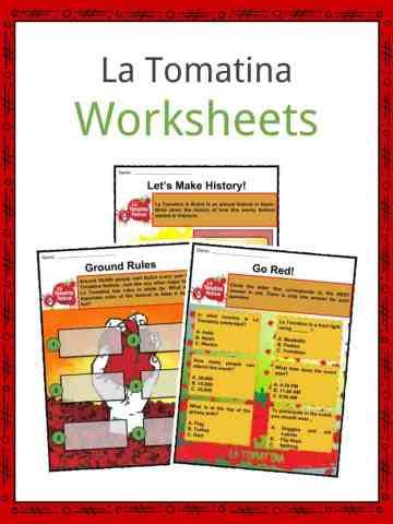 La Tomatina Worksheets