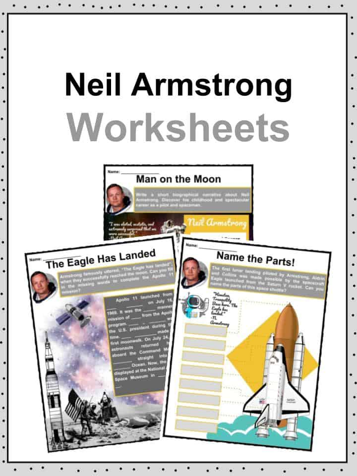 Neil Armstrong Facts, Information & Worksheets For Kids