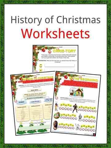 History of Christmas Worksheets