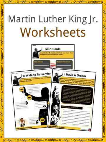 Martin Luther King Jr. Worksheets