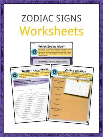 Zodiac Signs Worksheets