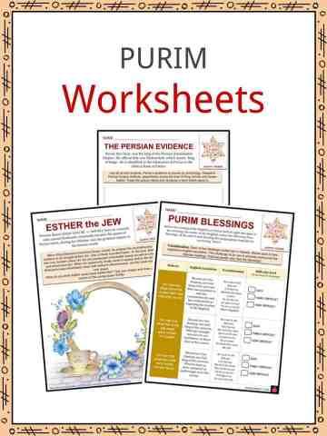 PURIM Worksheets