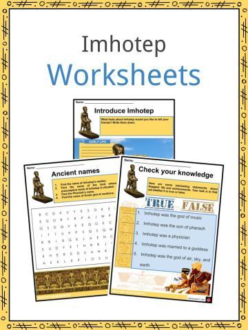 Imhotep Worksheets