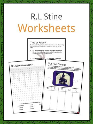 R.L Stine Worksheet