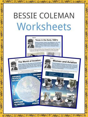 Bessie Coleman Worksheets