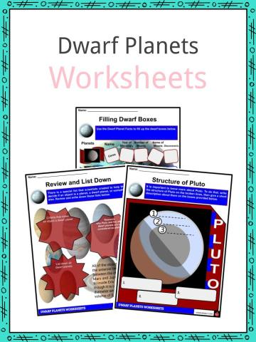 Dwarf Planets Worksheet