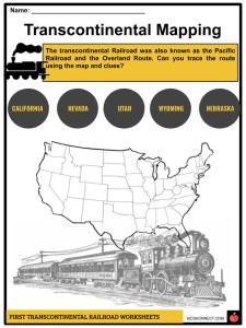 First Transcontinental Railroad Facts, Worksheets & History