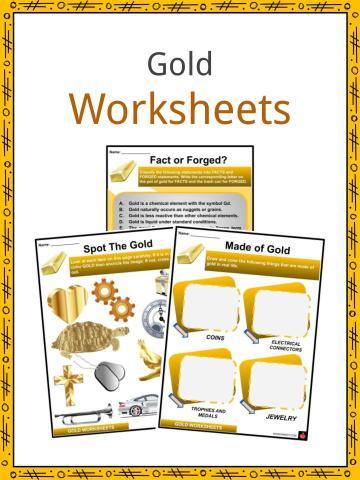Gold Worksheets