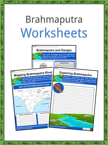 Brahmaputra River Worksheets