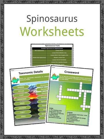 Spinosaurus Worksheets
