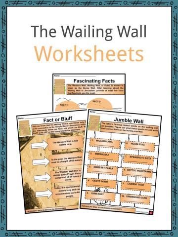 The Wailing Wall Worksheets