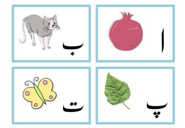 Urdu alphabets flashcards
