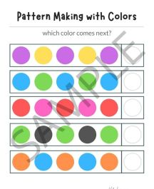 Pattern worksheet with colors