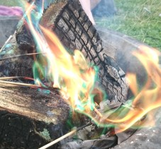 Image close-up-multi-coloured-flames-in-fire