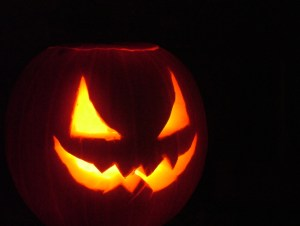 Image of pumpkin carved-with triangle-eyes