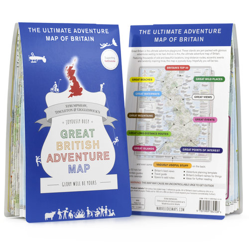 Image of Great British Adventure Map front and back
