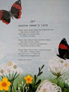 Image of page of book with poem and butterfly illustrations