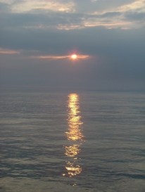 Bay of Biscay sunset over calm sea
