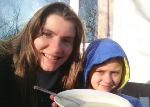 girl-and-woman-selfie-with-soup-bowl