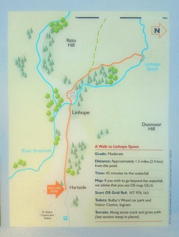 map-of-linhope-spout-waterfall-walk