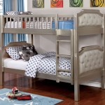 Bea Twin Over Twin Linen Upholstered Bunk Bed In Champagne Kids Furniture In Los Angeles