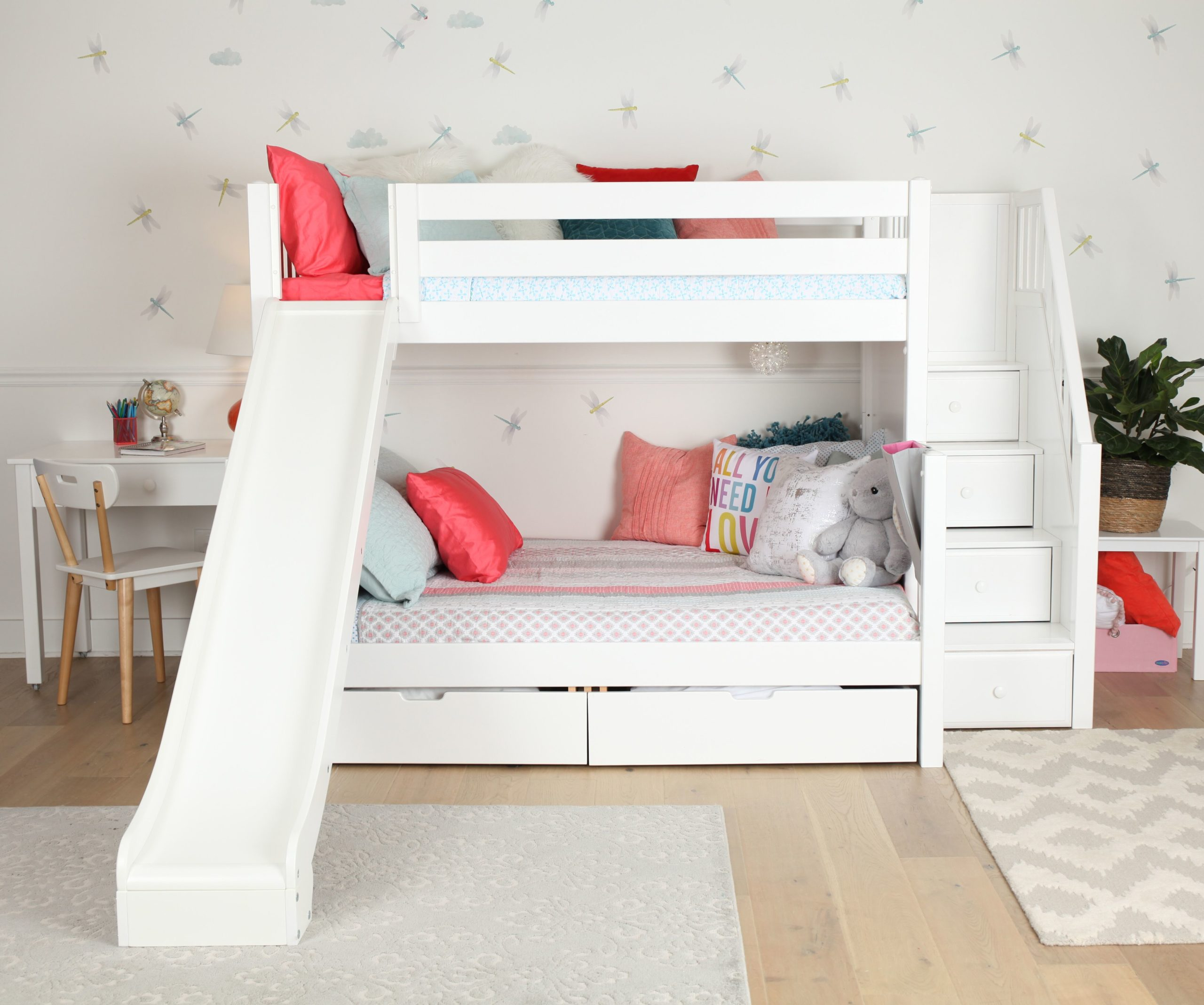 Boys Bunk Beds With Slide And Stairs Laptrinhx News