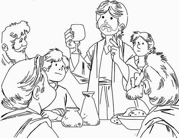 the last supper coloring page # 48