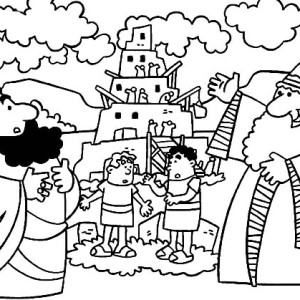 tower of babel coloring page # 37