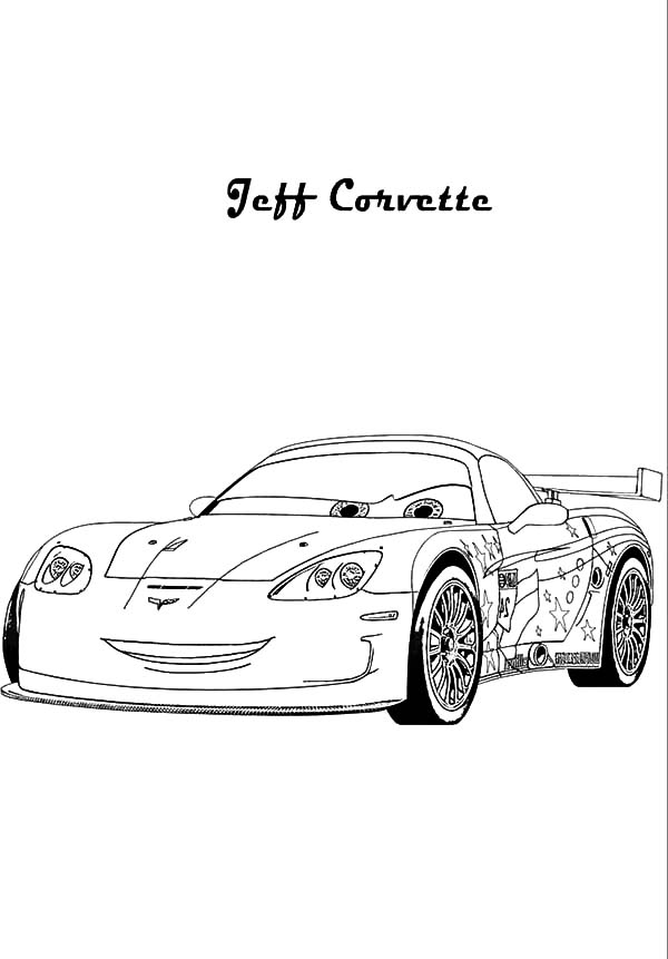 cars 2 jeff corvette coloring pages  kids play color