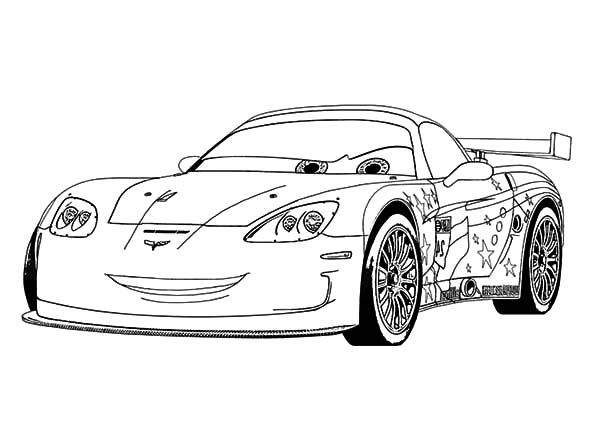 jeff corvette cars coloring pages  kids play color