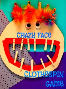 Crazy Face Clothes Pin Game
