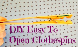 DIY Easy To Open Clothespins