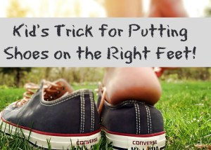 Kid's Trick for Putting Shoes on the Right Feet!