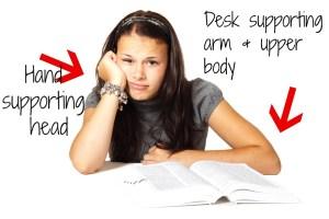 writing posture