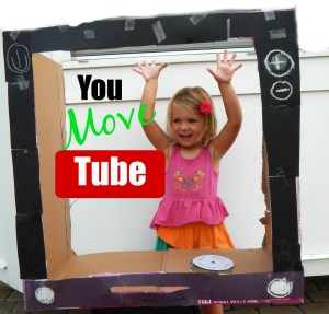 """This """"You Move Tube"""" game makes your child feel like they are on TV so search for an exercise channel and encourage your child to start moving! This game will be fun for all!"""