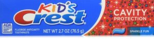 crest toothpaste side
