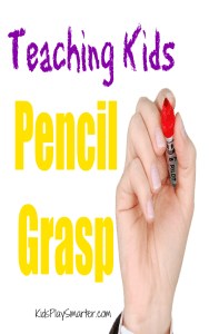 Teach your kids how to hold a pencil properly with these simple tips that make writing easier for your kids!