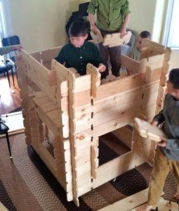 Building kid cottages
