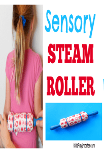This DIY sensory steam roller is a convenient way to obtain sensory input to calm down. Can be done at home, school, or on the go. Find out how to make it here.