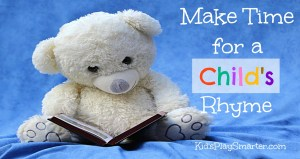 Make Time for a Child's Rhyme