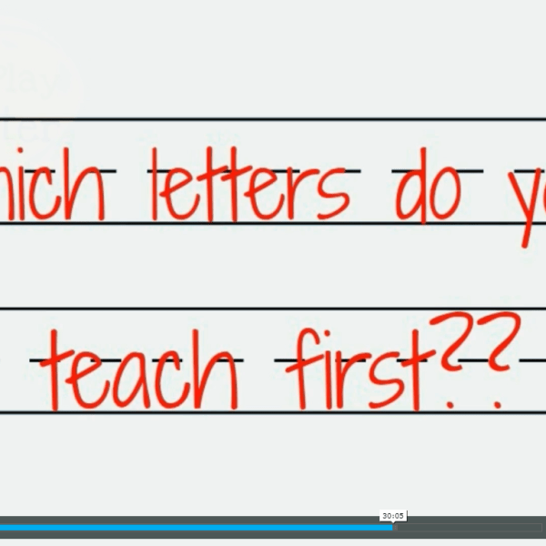 How to teach handwriting to kids screen shot of which letters are to be taught first