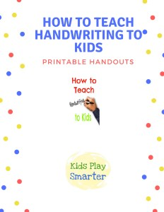 How to teach handwriting to kids supplemental packet