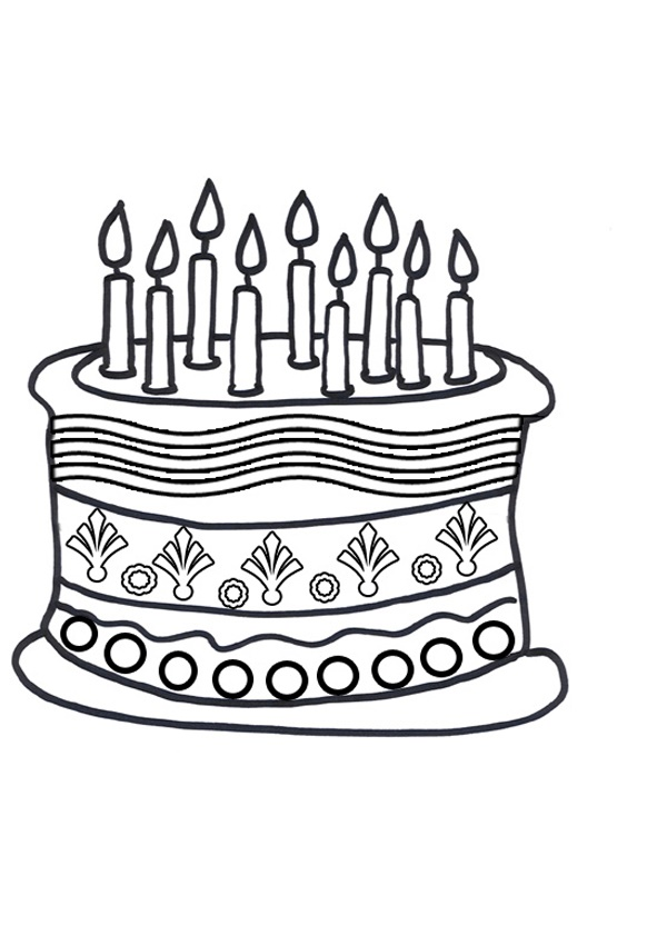 Coloring Pages Cake Slice Coloring Page