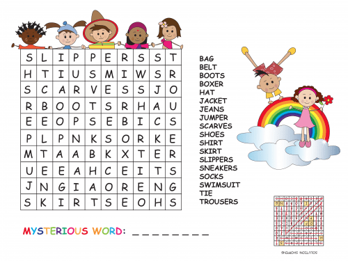 clothes word search kidspressmagazine com