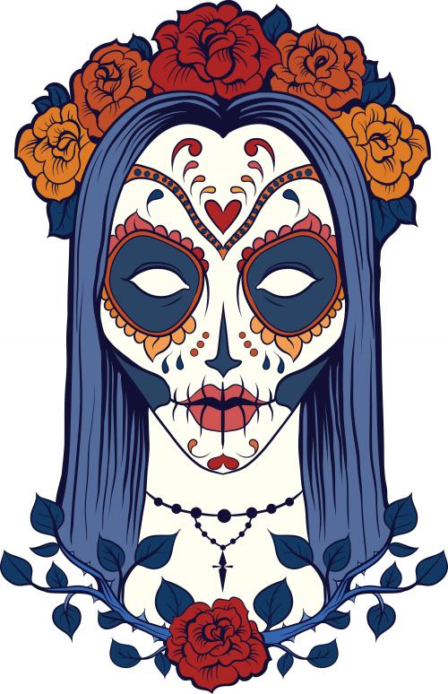 Sugar Skull Advanced Coloring 23 Kidspressmagazine Com