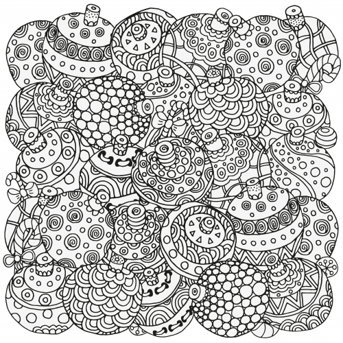 pages in stress therapy christmas coloring pages in