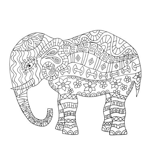 mandala elephant coloring page kidspressmagazine com